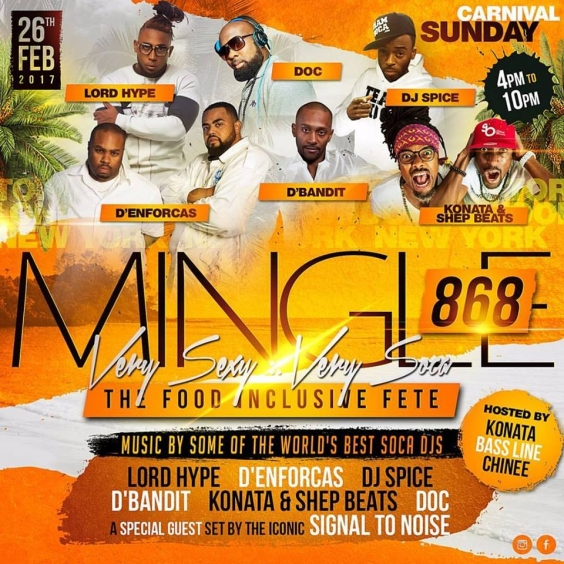 MINGLE 868 - The Ultra Sexy FOOD Inclusive - Trinidad Carnival Sunday